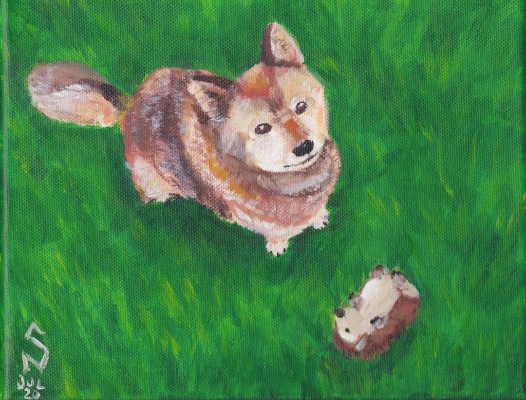 Retrato de mascota en acrílico